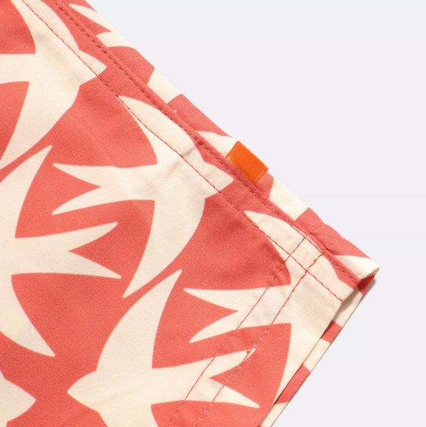 Far Afield Printed Swim Shorts - Arabesque Orange