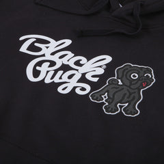 Black Pug Hooded Combo Sweat Black