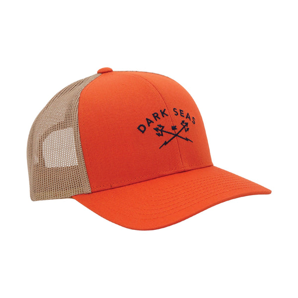 Dark Seas Murre Cap - Orange/Khaki