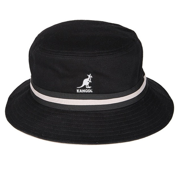 Kangol Stripe Lahinch Bucket Hat - Black