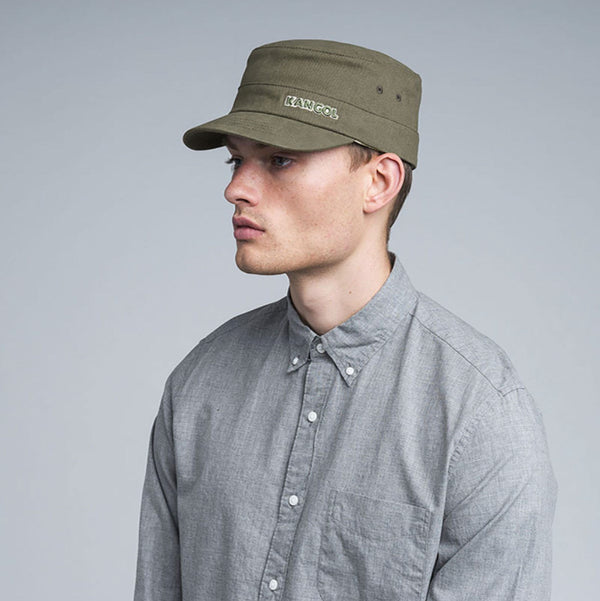 Kangol Cotton Twill Army Cap - Green