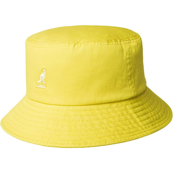 Kangol Washed Bucket Hat - Lemon Sorbet