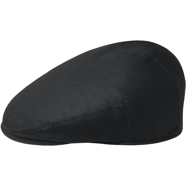 Kangol Washed Flat Cap - Black