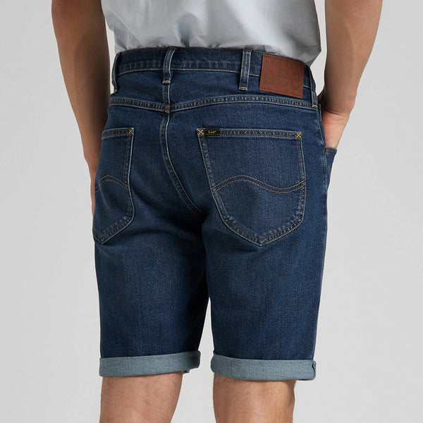 Lee 5 Pocket Denim Shorts - Dark Wash