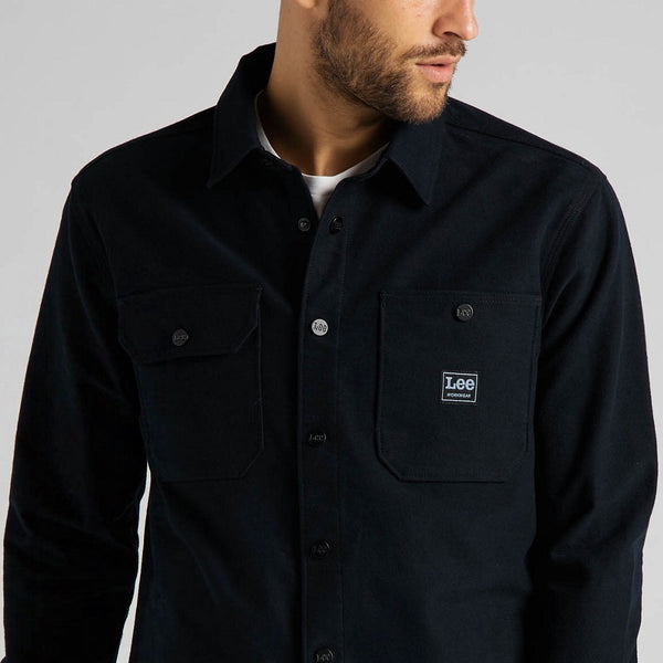 Lee Workwear Box Pocket Overshirt - Black - Born Store