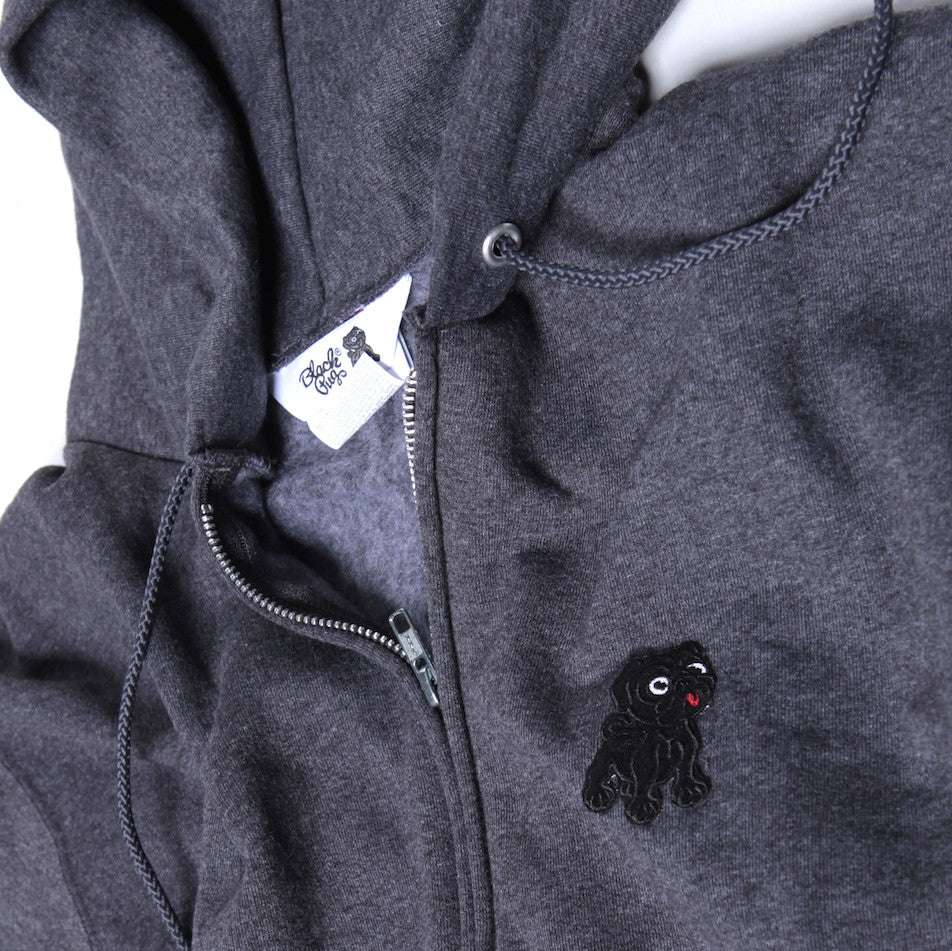 Black Pug x Champion Zip Hoodie Rocky Badge