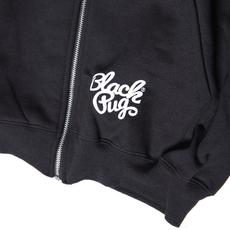Black Pug x Champion Zip Hoodie Rocky Badge - Born Store