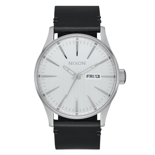 Nixon Sentry Leather - All Silver / Black - Born Store