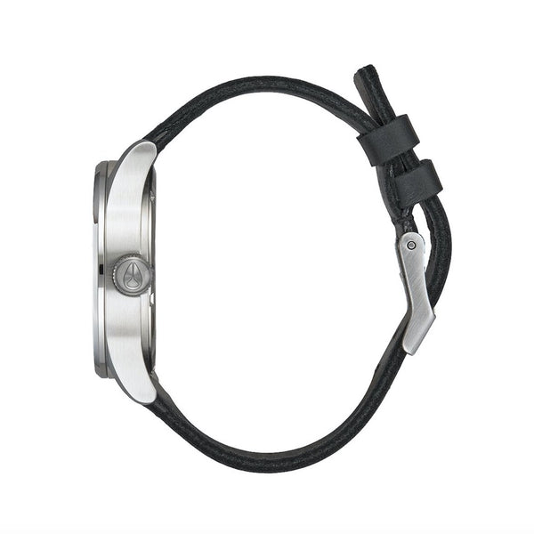 Nixon Sentry Leather - All Silver / Black