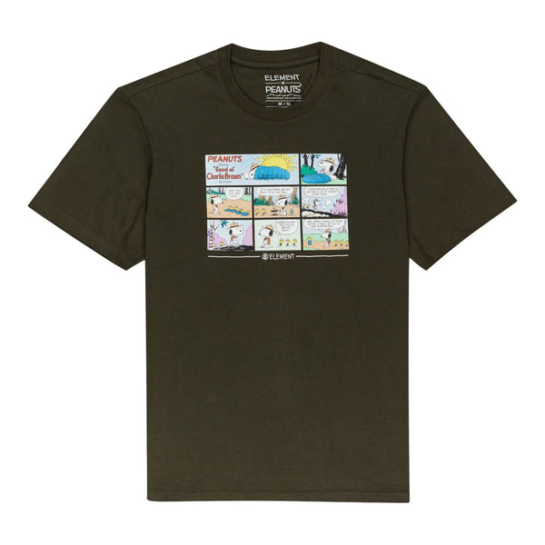 Peanuts X Element Campers Tee Shirts - Army Green