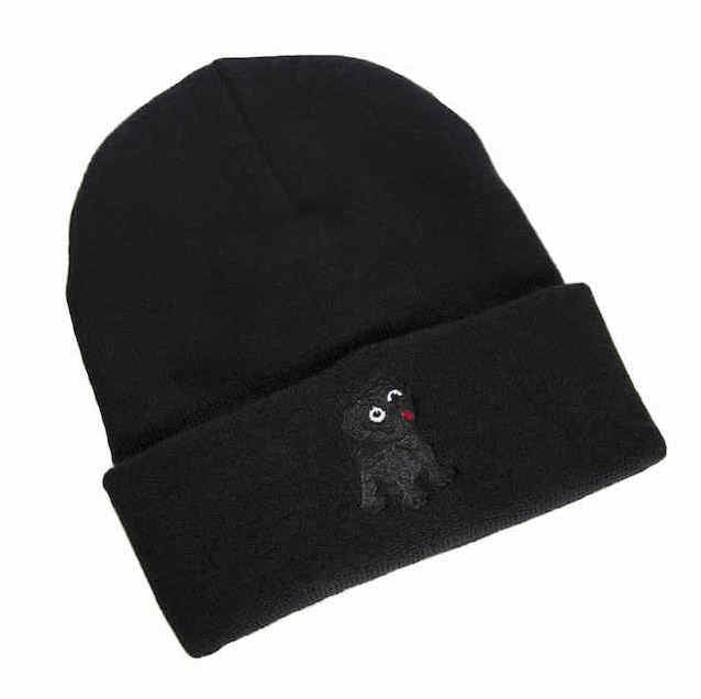 Black Pug Night Watchman Beanie - Born Store
