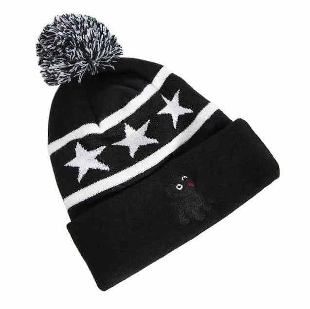 Black Pug Star Beanie - Born Store