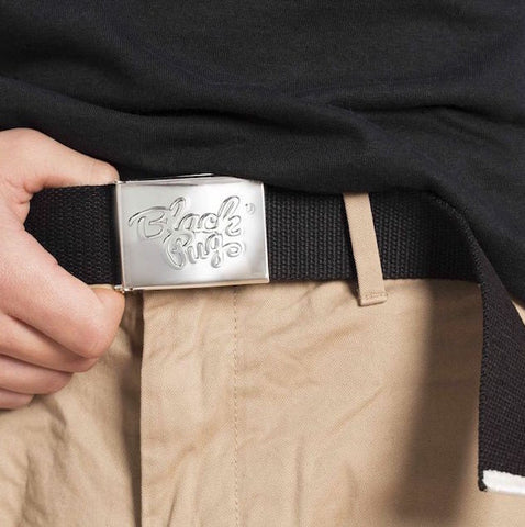 Black Pug Stock Logo Belt - Born Store