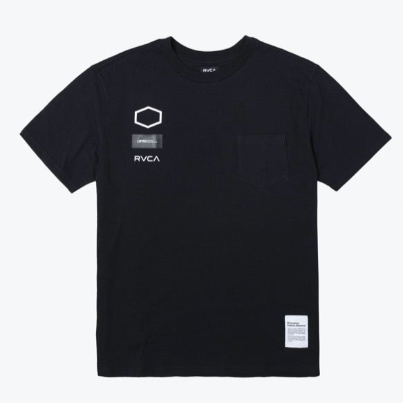 RVCA DPM S/S Pocket Tee Shirt - Black - Born Store