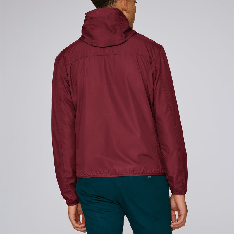 Born Essentials Hooded Light Wind Jacket - Burgundy - Born Store
