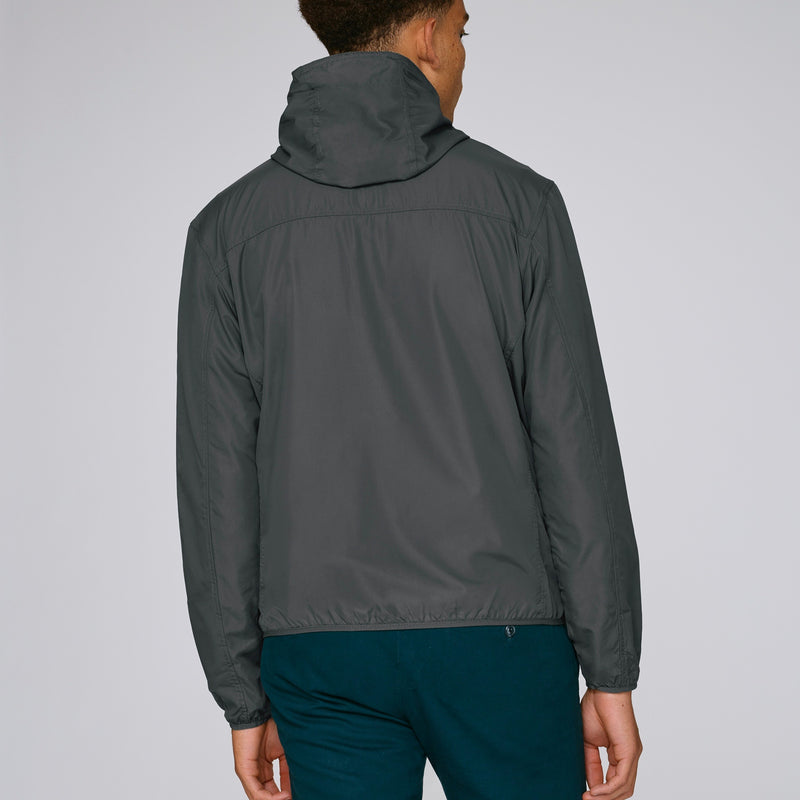 Born Essentials Hooded Light Wind Jacket - Grey - Born Store