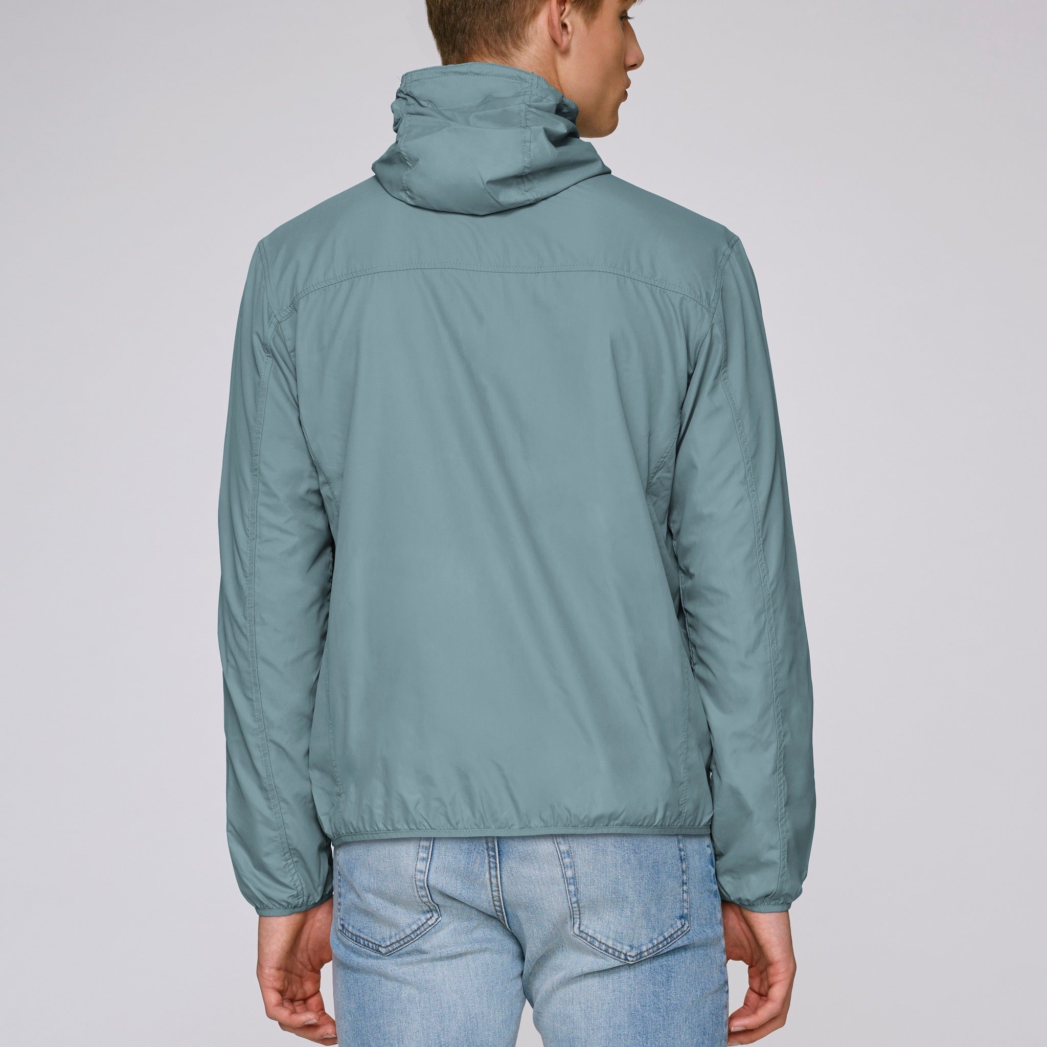 Born Essentials Hooded Light Wind Jacket - Light Blue