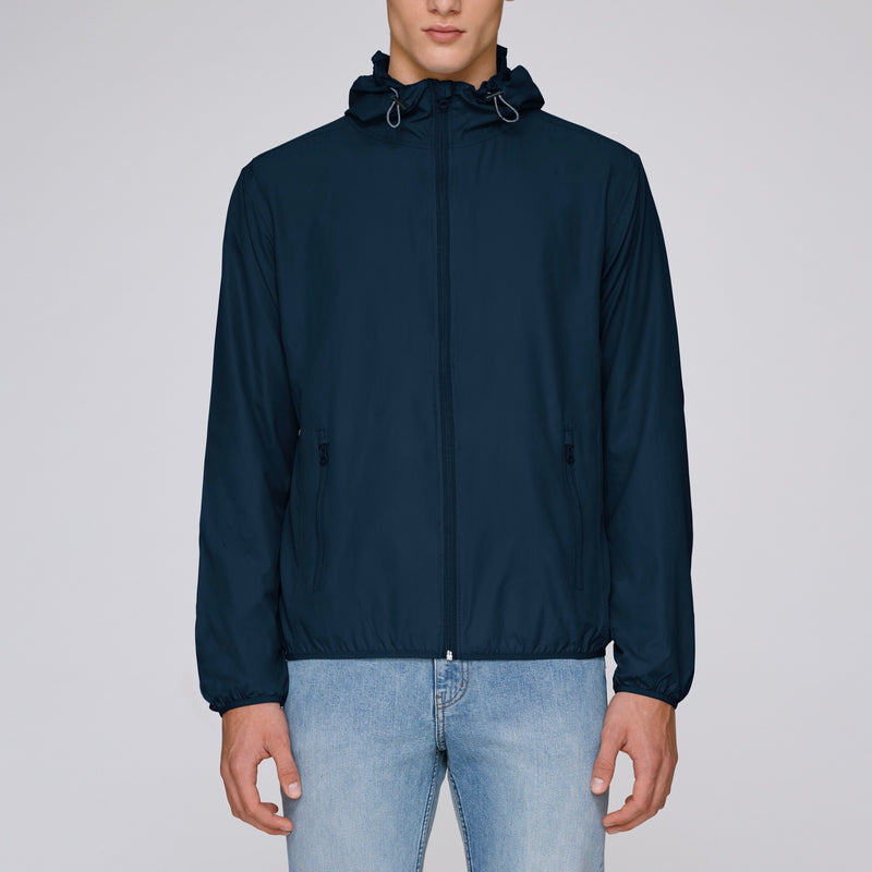 Born Essentials Hooded Light Wind Jacket - Navy - Born Store