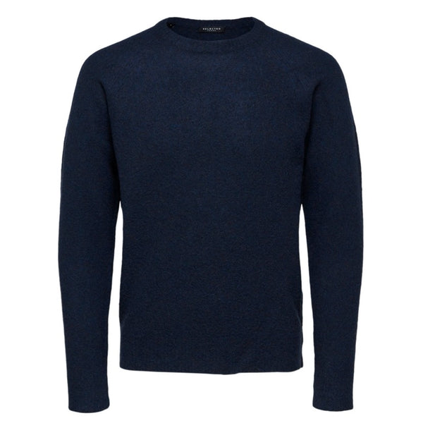 Selected Homme Jerry Crew Knit Wool - Sky Captain