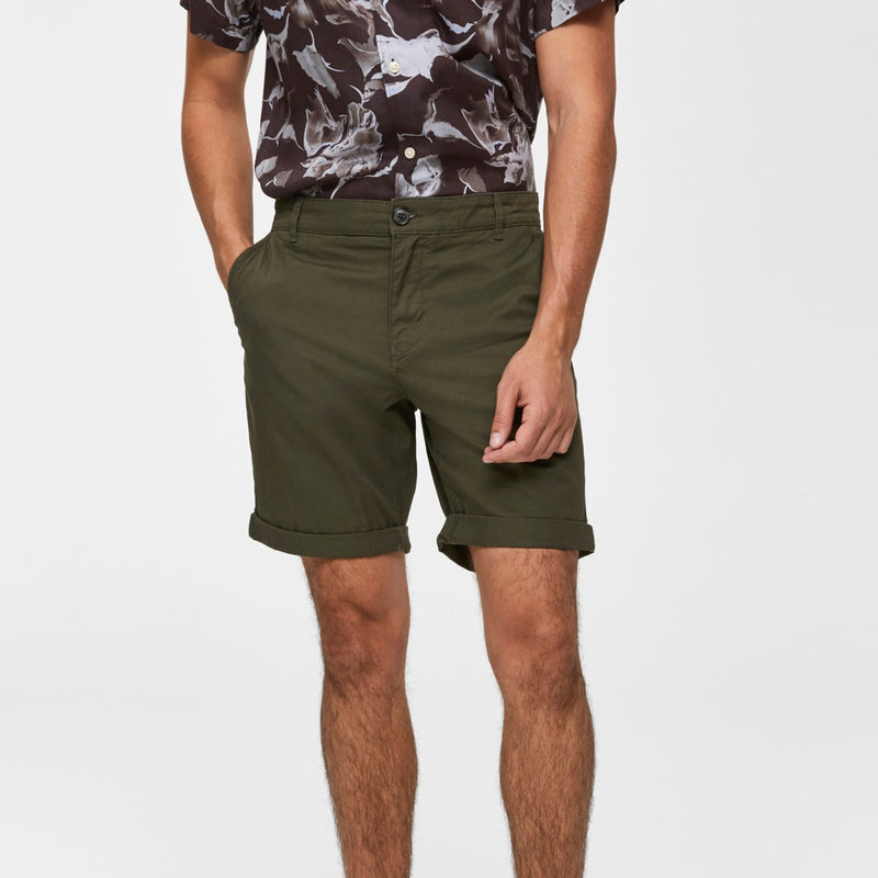 Selected Homme Paris Shorts - Dark Olive
