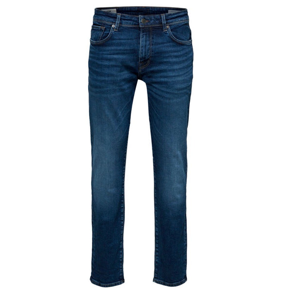 Selected Homme Straight Fit Jeans - Medium Blue