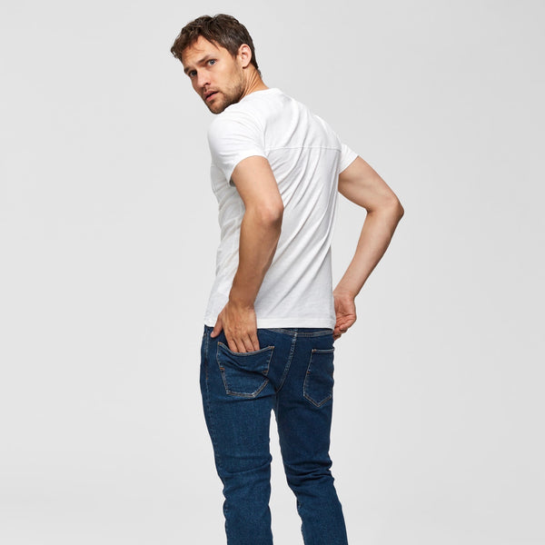 Selected Homme Utility Style Tee Shirt - Bone White