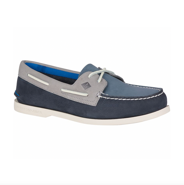 Sperry Authentic Original Plush Washable Boat Shoe - Navy/Grey - Born Store