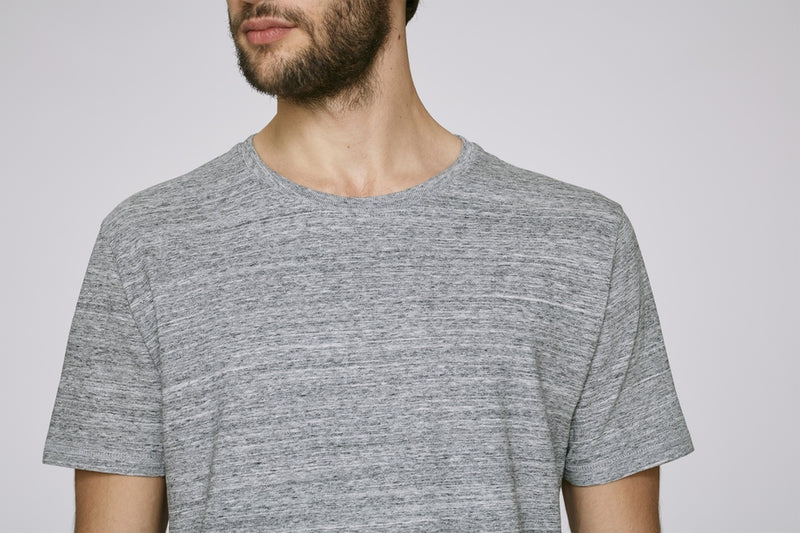 Born Essentials Organic Cotton S/S Tee Shirt - Slub Grey - Born Store