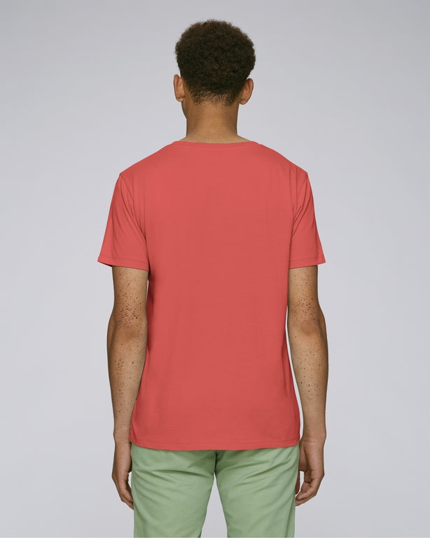 Born Essentials Organic Cotton S/S Tee Shirt - Hot Coral - Born Store