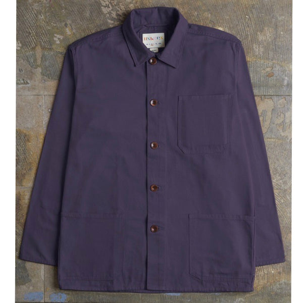 USKEES Button Work Shirt - Purple - Born Store