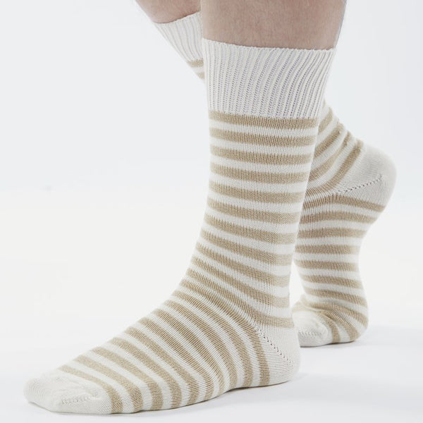 Universal Works Striped Socks - Ecru
