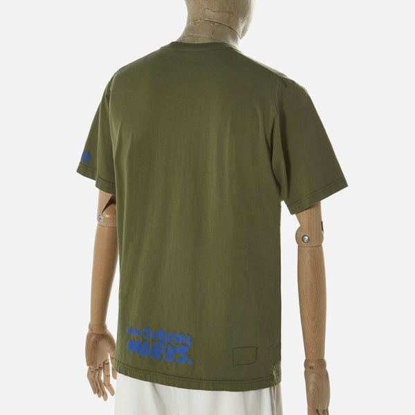 Universal Works Peace, Love & Soul Tee Shirt - Olive