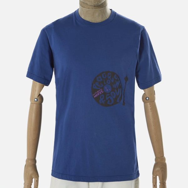Universal Works Peace, Love & Soul Tee Shirt - Blue