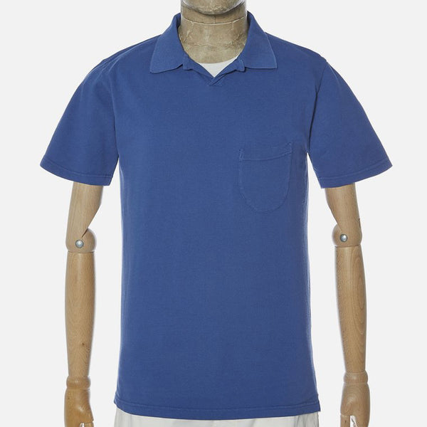 Universal Works Piquet Vacation Polo - Blue