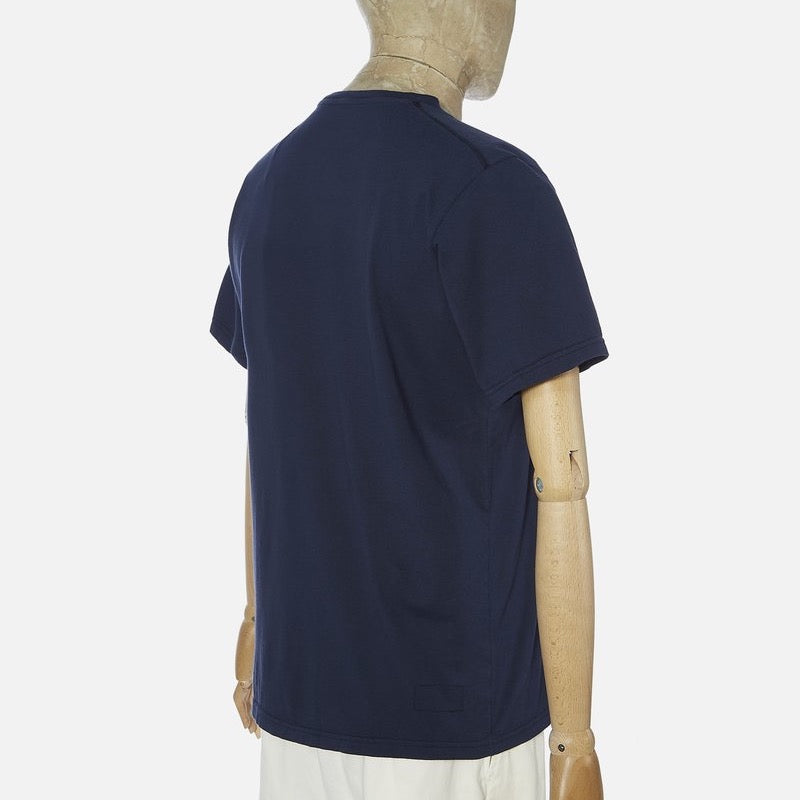 Universal Works Printed Pocket Tee Shirt - Navy