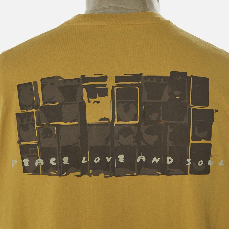 Universal Works Sound System Tee Shirt - Gold