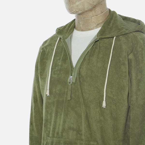Universal Works Terry Fleece Beach Hoody - Olive
