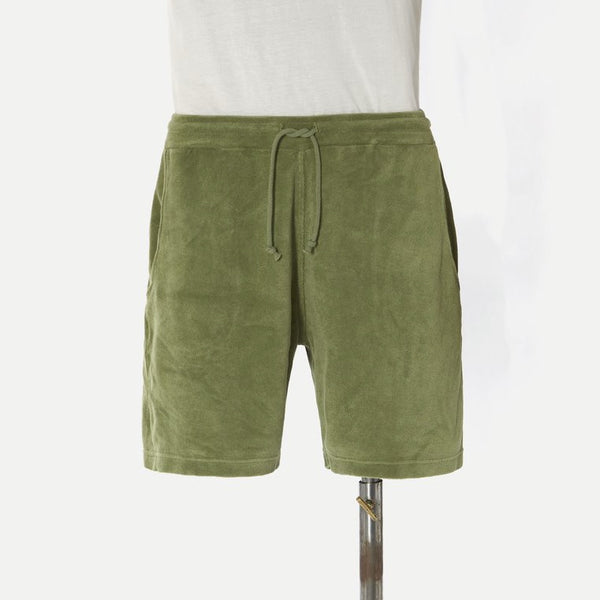Universal Works Terry Fleece Beach Short - Olive