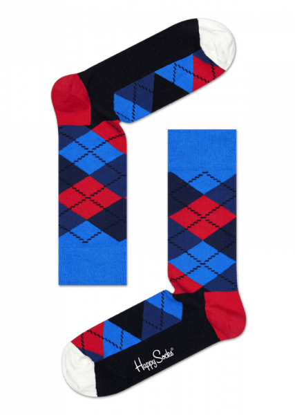 HAPPY SOCKS Argyle - Navy/Red