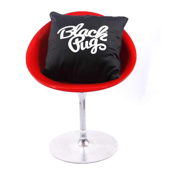 Black Pug Cushion Case - Born Store