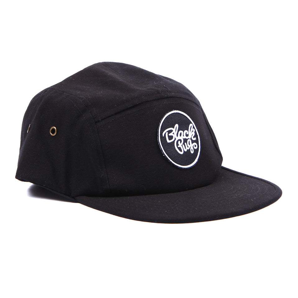 Black Pug 5 Panel Cap – Stock Logo