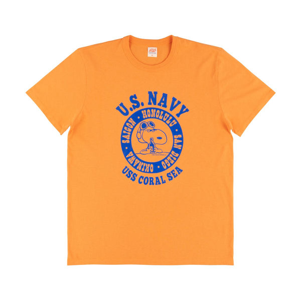 TSPTR Navy Tour Tee Shirt - Orange