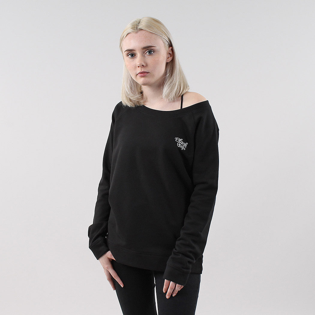Black Pug Girls Stock Logo Sweatshirt - Black