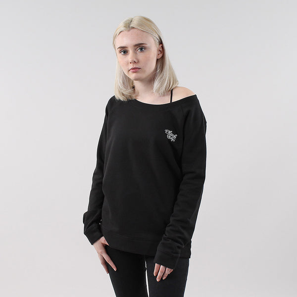 Black Pug Girls Stock Logo Sweatshirt - Black - Born Store
