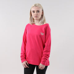 Black Pug Girls Stock Logo Sweatshirt - Raspberry