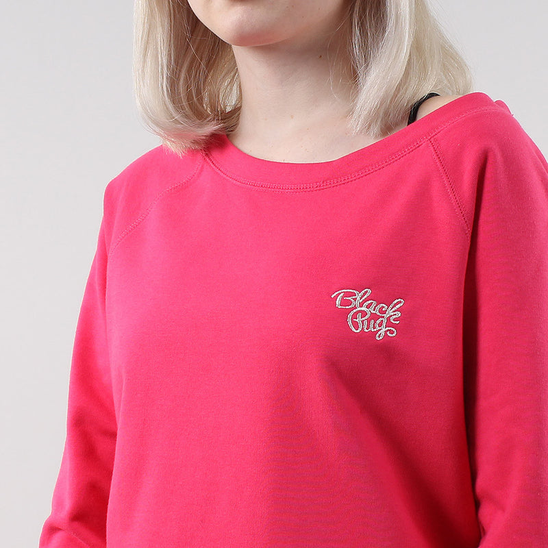 Black Pug Girls Stock Logo Sweatshirt - Raspberry - Born Store