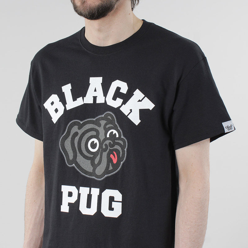 Black Pug Old Head Logo - Black - Born Store