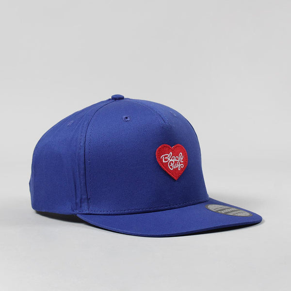 Black Pug Heart Snapback Cap – Blue/Red - Born Store