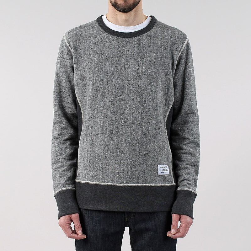 Black Pug Contrast Crew - Grey Heather - Born Store