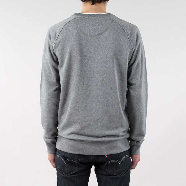 Black Pug Basic Crew Sweat - Grey Heather - Born Store